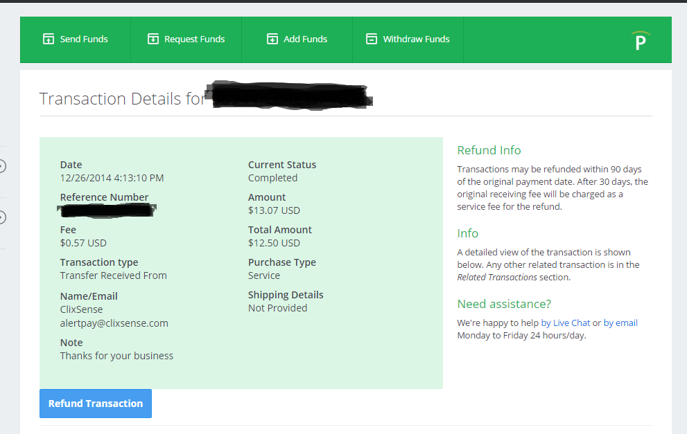 latest payment proof