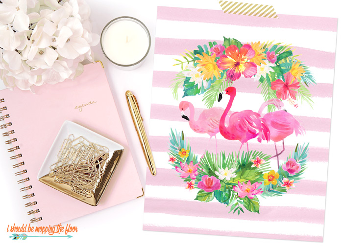 Free Flamingo Printables