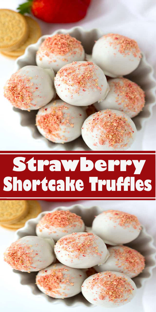 Strawberry Shortcake Truffles #Strawberry #Shortcake #Truffles #StrawberryShortcakeTruffles