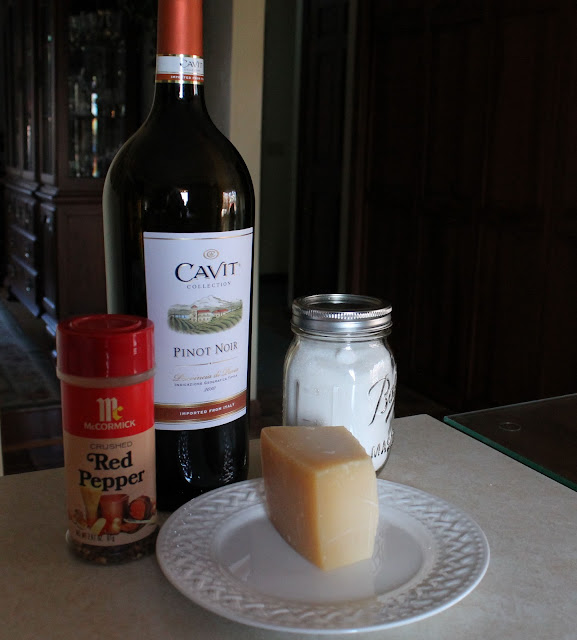 Wine, Cheese, and Seasonings