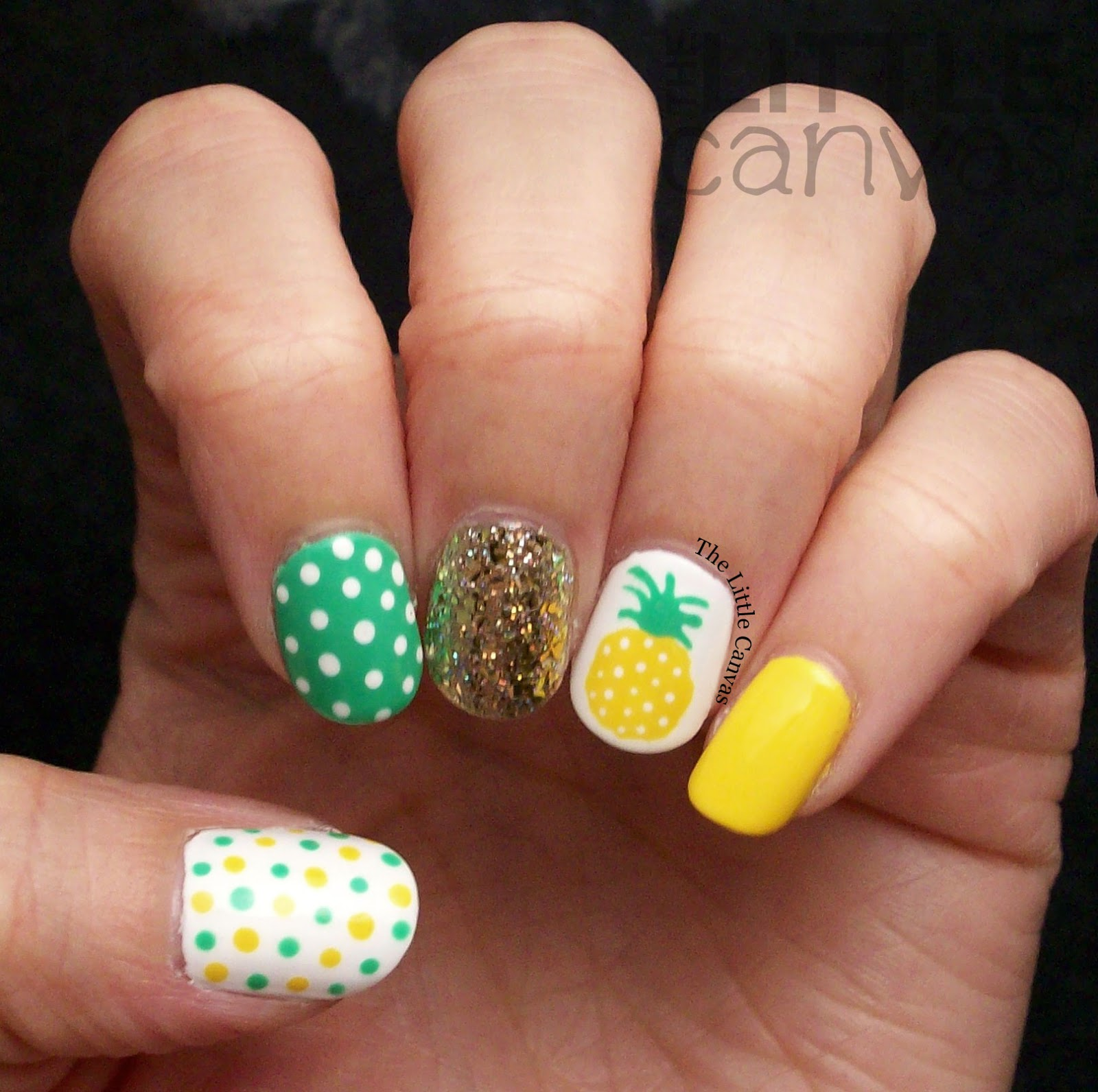 The One with the Best Pineapple Manicure Ever - The Little ...