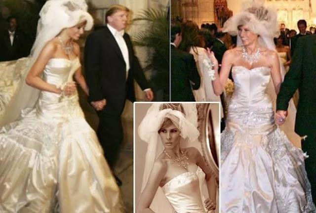 Melania Trump em um vestido