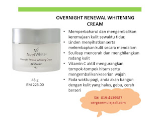 overnight cream shaklee