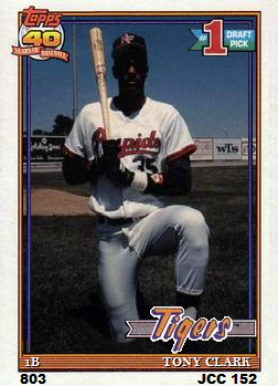 Topps Cards That Never Were Missing Topps Cards Part 4 Tony Clark