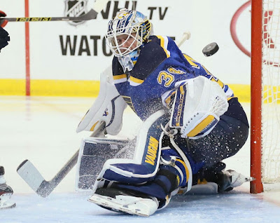 St. Louis Blues goaltender Jake Allen