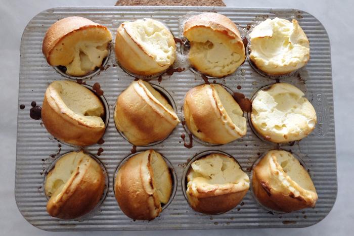 freshly baked dutch baby mini pancakes