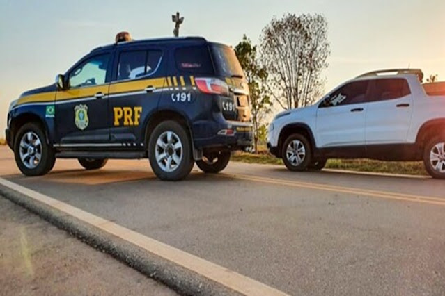 PRF recupera em menos de 7 horas caminhonete roubada em Porto Velho