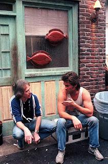 John Carpenter y Kurt Russell en Golpe en la Pequeña China