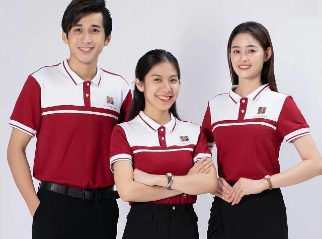 Mẫu áo thun đồng phục của ngân hàng Agribank