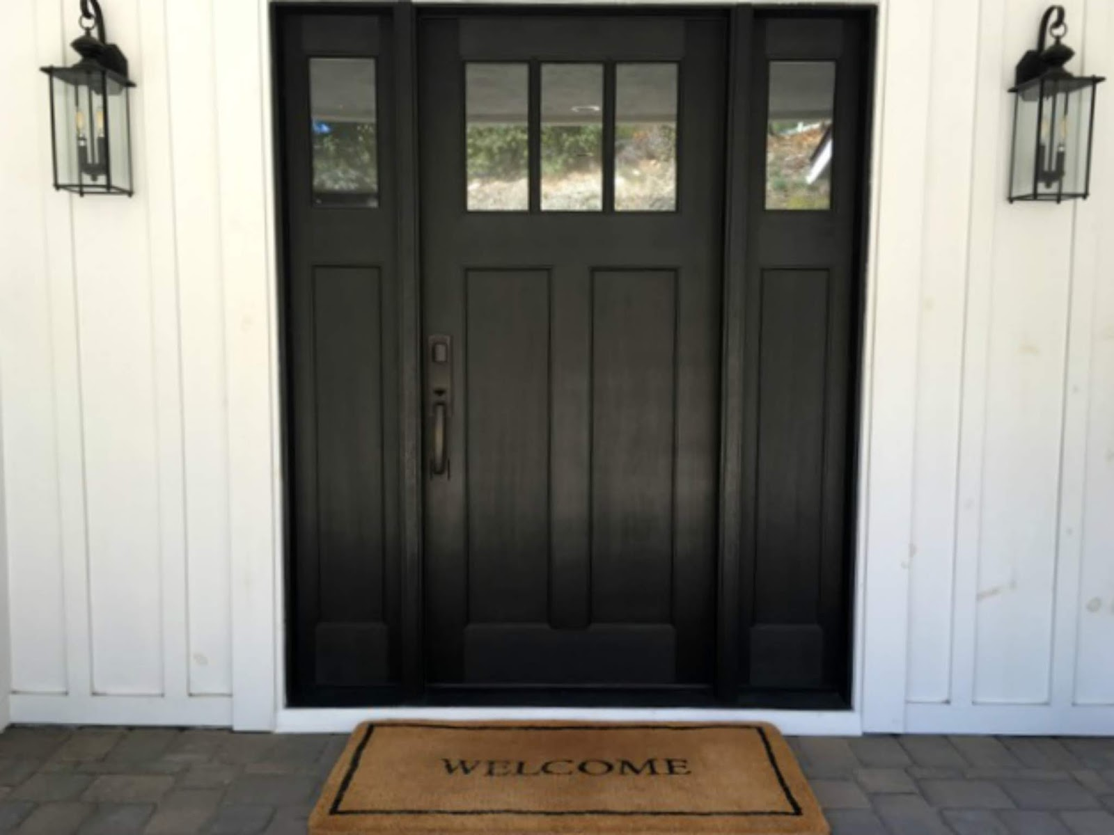 home improvement black entry door