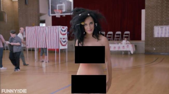 Katy Perry Nude Vote Video