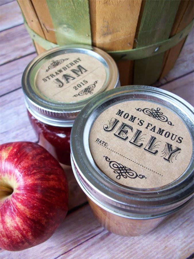 custom mason jar labels
