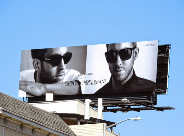 bf14fcdb61f5 Daily Billboard  Calvin Harris Emporio Armani billboards... Advertising for  Movies TV Fashion Drinks Technology and More