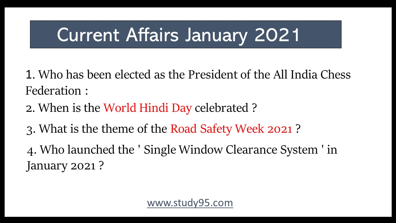 Current Affairs Class 6