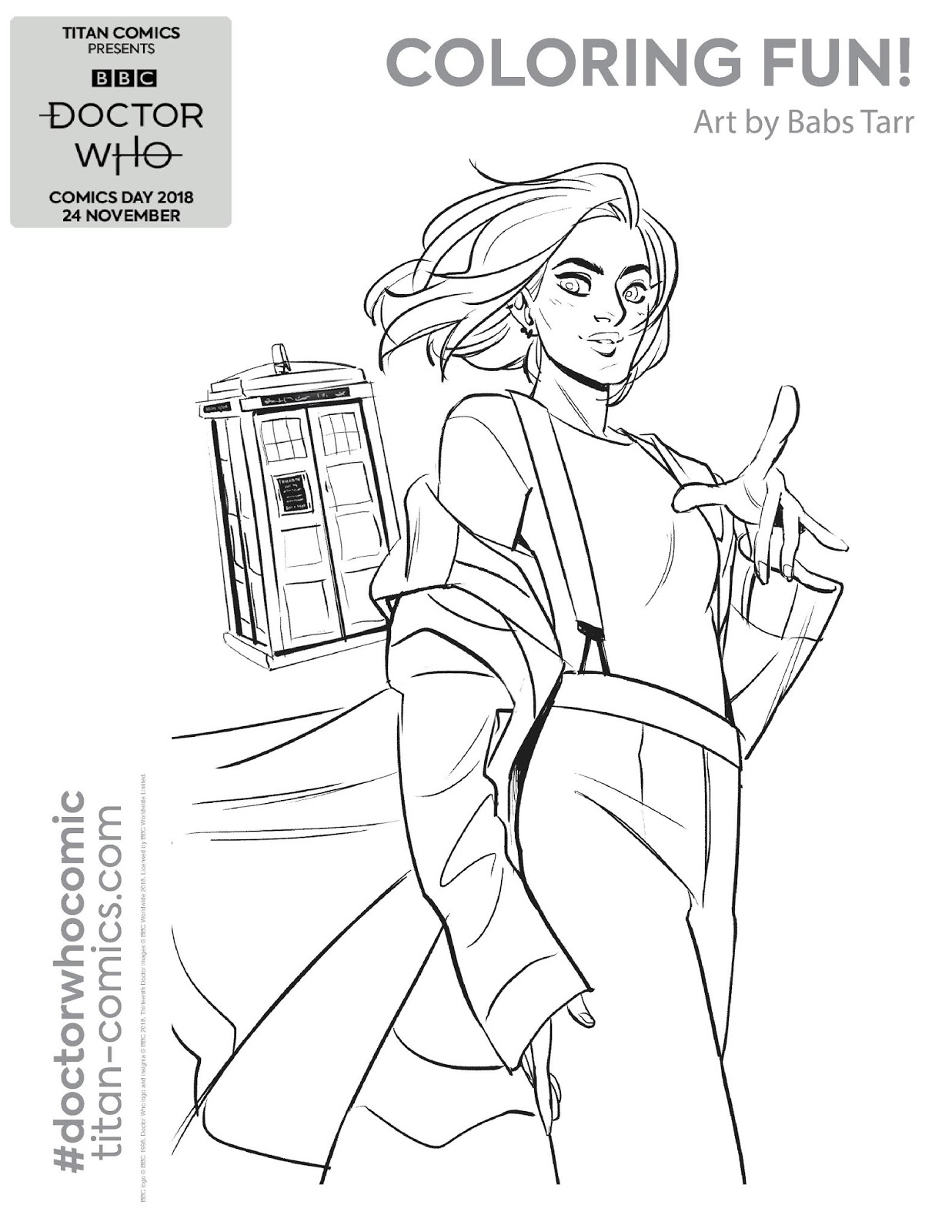 Official Doctor Who Tumblr — Doctor Who Colouring-In Packs aren't ... | 1600x1237