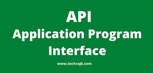 API full form, What is the full form of API
