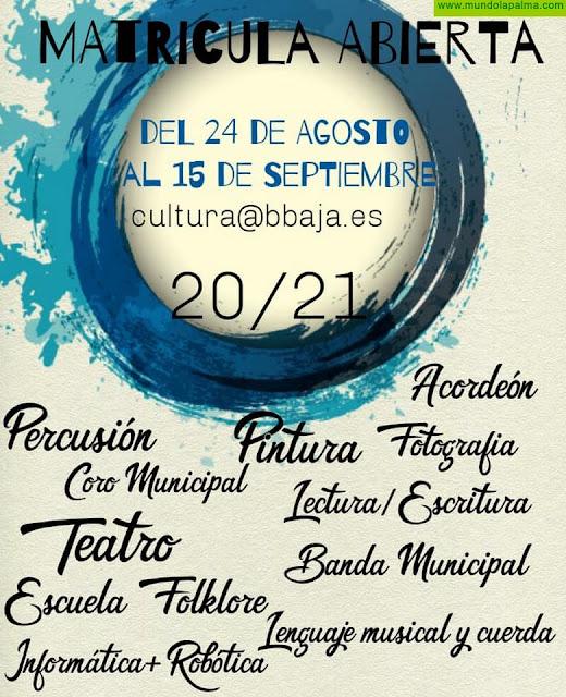 BREÑA BAJA: Inscripciones Promoción Cultural 20 / 21