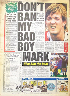 Sunday Sport newspaper back page from November 1987