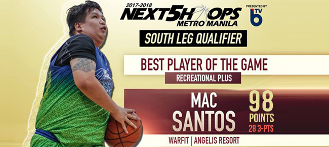 HIGHLIGHTS: Barangay Captain Mac Santos Scores 98 POINTS with 28 three-pointers (VIDEO) Next5Hoops