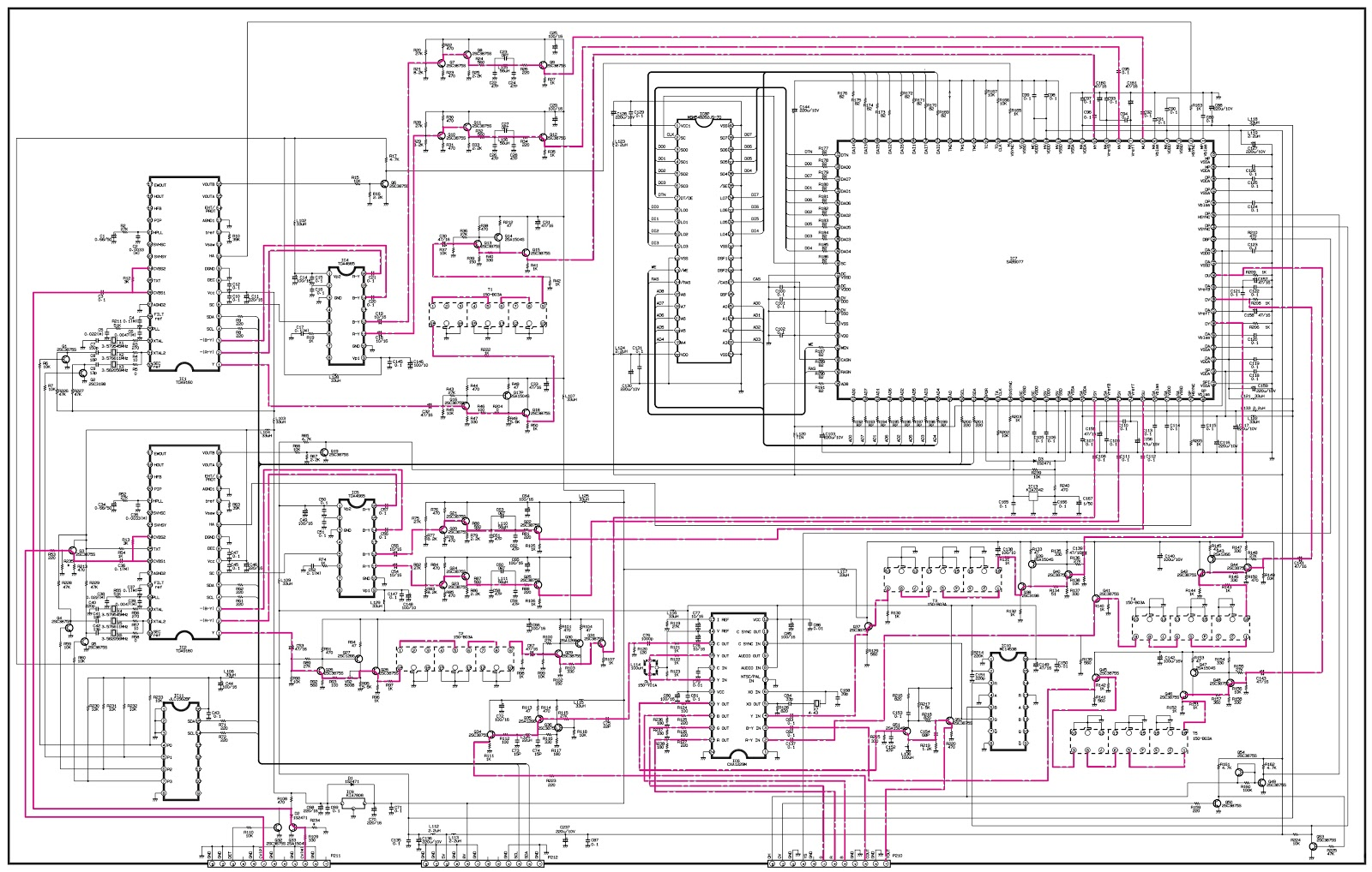 WP32A30 LG 32 inch CRT TV Circuit Diagram Schematic