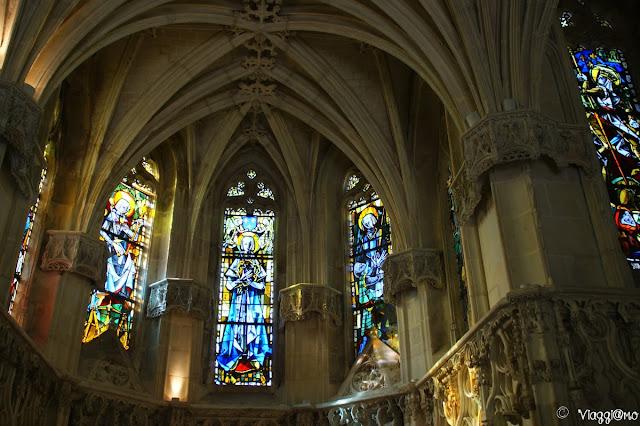 Gli interni della cappella Saint Hubert di Amboise