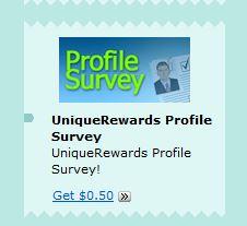 Unique Rewads Profile Survey
