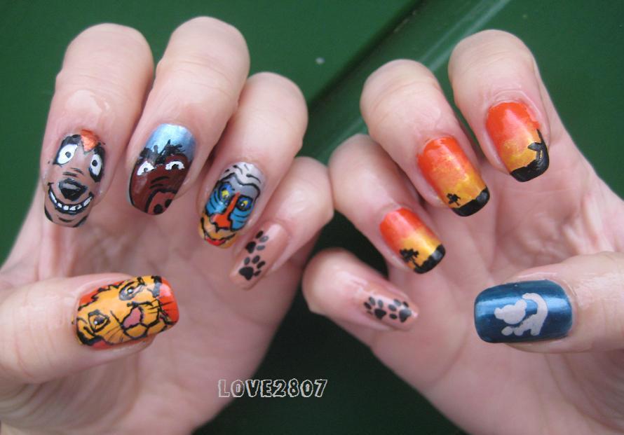 nailove2807: Nail Art Design: The Lion King