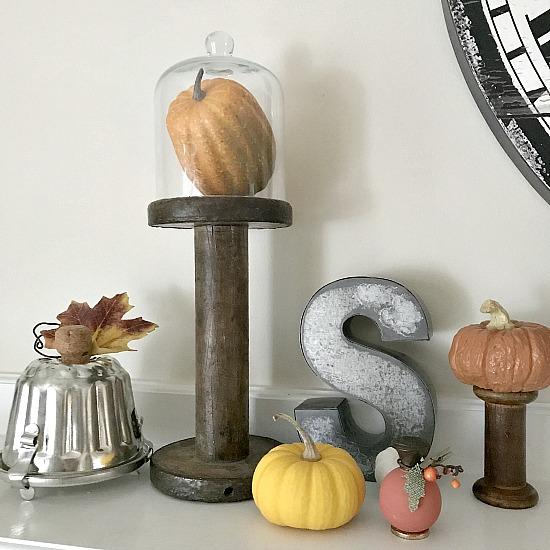 fall mantel decoration DIY
