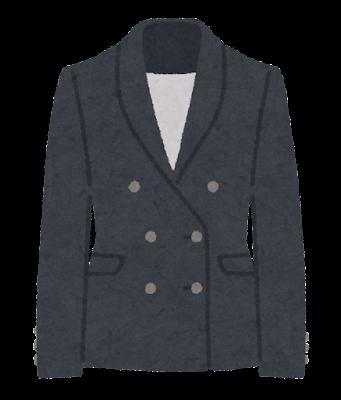 ダブルスーツのイラスト(女性用)