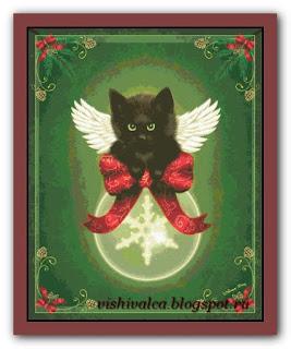 """HAED HAEDMED121 """"Merry Little Christmas Cat"""""""