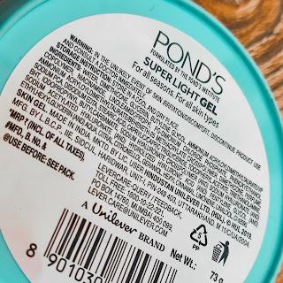 POND'S SUPER LIGHT GEL REVIEW || BEST OIL FREE MOISTURIZER FOR ALL SKIN TYPES