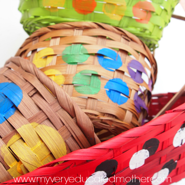 Give old baskets new life with colorful makeovers!