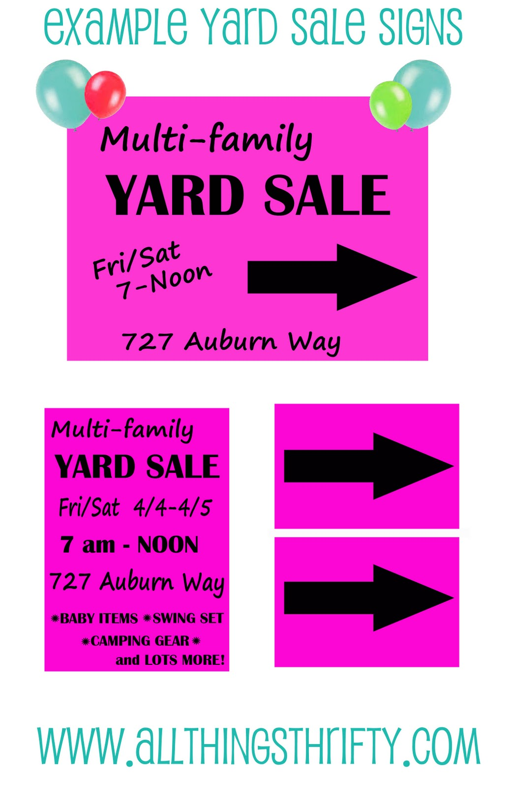 top 15 yard sale advertising tips all things thrifty