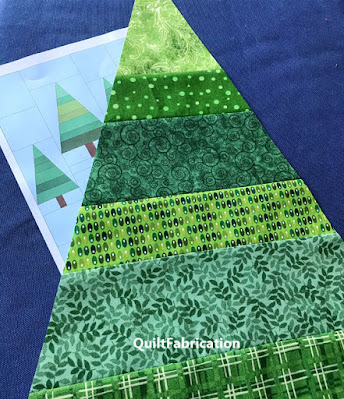 tree for a camping quilt by QuiltFabrication