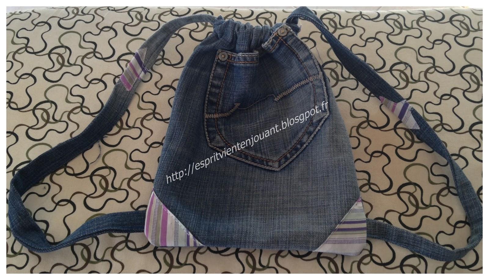 L 39 esprit vient en jouant livre faire de la couture durable en recyclant un jeans en sac - Que faire avec un vieux jean ...
