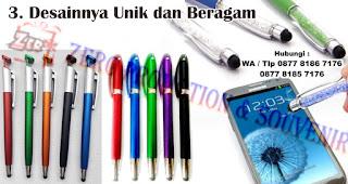 Desainnya Unik dan Beragam merupakan salah satu manfaat dan kelebihan pulpen stylus