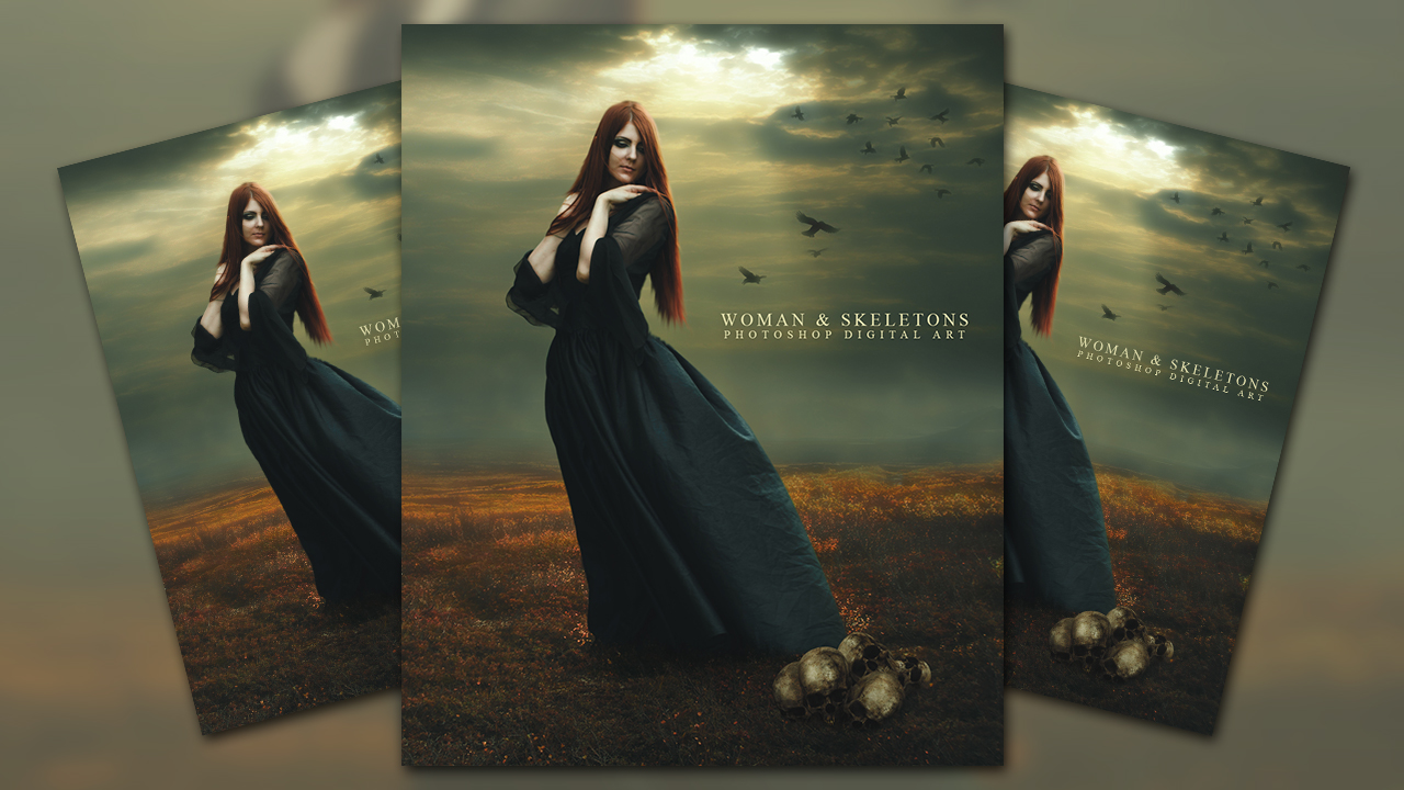 Create a Woman and Skeletons Photo Manipulation In Photoshop