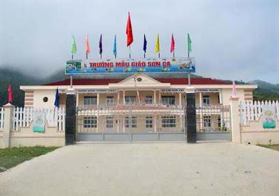 Tên công trình: Trường học Mẫu Giáo. Tỉnh Quảng Nam (onduline)