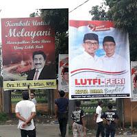 Tim Keluarga Aji Irfan Persilahkan Billboardnya Dipasang Baliho Lutfi-Feri