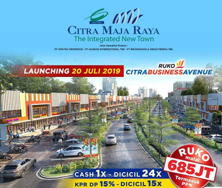 Ruko Citra Business Avenue Citra Maja Raya Dijual Harga Perdana Rp. 685 Jutaan