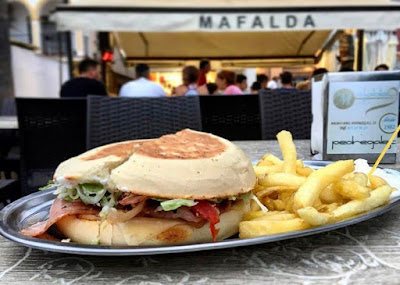 Hamburguesa de la Hamburguesería Mafalda en Málaga