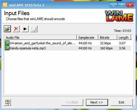 OpenSource Audio Encoder for Windows - winLAME