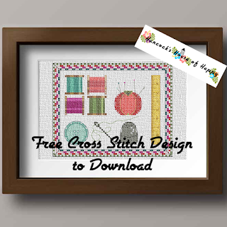 sweet little sewing sampler cross stitch pattern.