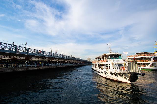 Ponte di Galata da Eminonu-Istanbul