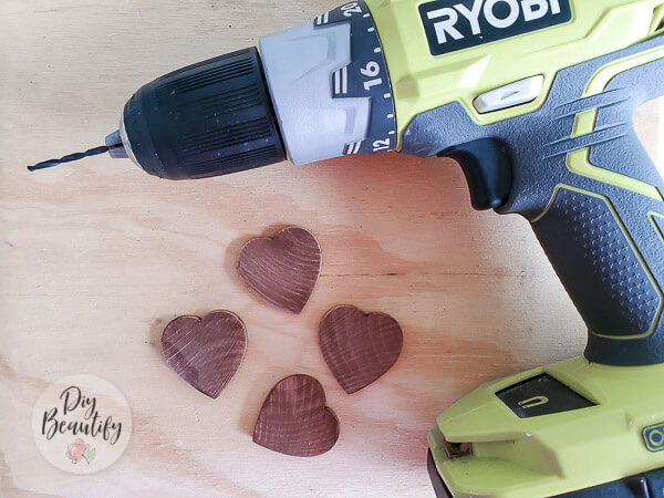 stained wood hearts