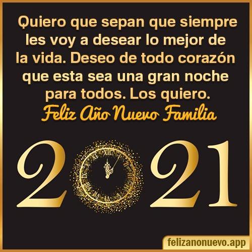 Frases de feliz año nuevo 2021 familia