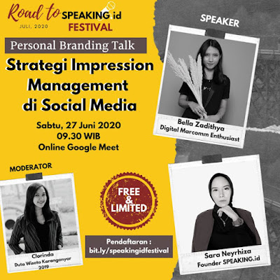 Personal Branding Talk Bersama SPEAKING.id