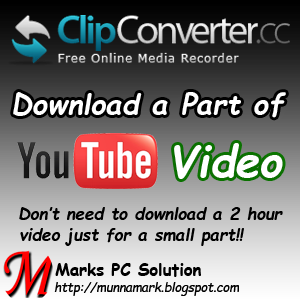Download a Part of YouTube Video using Clip Converter