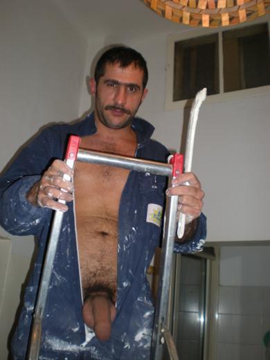 Pedreiros mestre de obras pelado 1