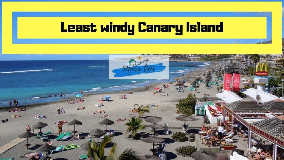 least windy resort in the canary island